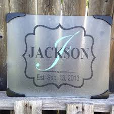 cutting board personalized personalized glass cutting board split letter