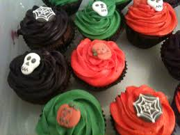 spooky scary halloween dark chocolate cupcakes kerry cooks