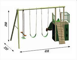 ringhiera in legno per giardino struttura gioco in legno da giardino sioux 2 altalena