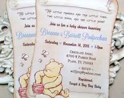 winnie the pooh baby shower classic winnie the pooh baby shower invitations classic winnie the
