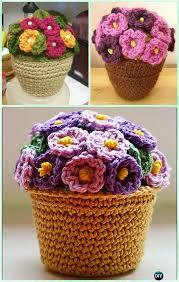 Free Pattern For Crochet Flower - best 25 crochet bouquet ideas on pinterest crochet chain free