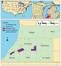 Howell Michigan Map by Spatial And Temporal Study Of Climatic Variability On Grape