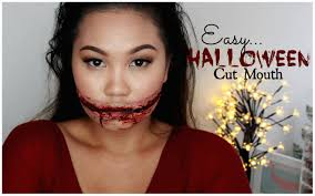 easy sfx halloween makeup cut mouth zebbyzelf youtube
