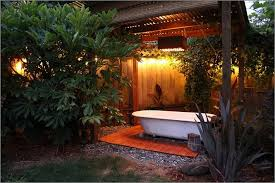 outdoor bathrooms ideas outdoor spa ideas for the summer