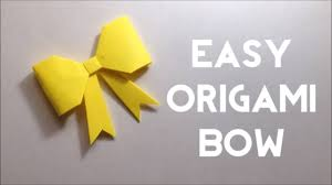 Paper Craft Steps - paper bow origami bow tutorial easy steps for beginners