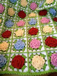 free pattern granny square afghan crochet rose granny square afghan flowers blanket pinterest