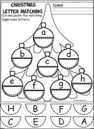 free cut and paste letter matching activity for the winter cut