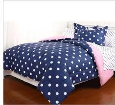 Blue Full Comforter Blue U0026 White Polka Dot Reversible Girls Full Comforter Set 7