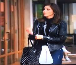 Heather Dubrow House Heather Dubrow U0027s Black And White Studded Tote Real Housewives