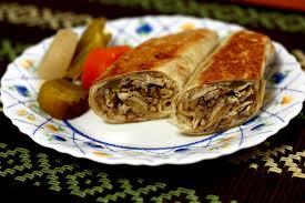 arabic wrap shawarma arabic food with a sense