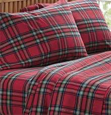 plaid flannel sheets duvet cover and sham red tartan flannel
