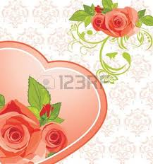 ornamental frame with roses royalty free cliparts vectors and