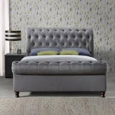 grey upholstered beds wayfair co uk