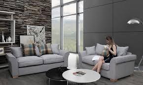 Scatter Back Cushions Hugo 3 2 Seat Scatter Sofa Groupon Goods