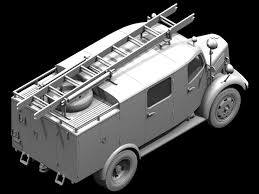 vw kubelwagen kit l1500s llg wwii german light fire truck icm holding plastic