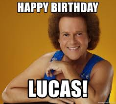 Lucas Meme - happy birthday lucas gay richard simmons meme generator