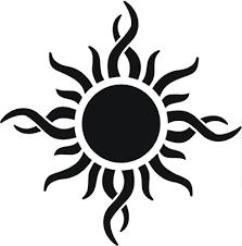awesome tribal sun design