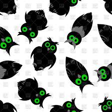 halloween seamless backgrounds halloween seamless background with owls vector image 107352