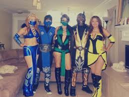 Scorpion Halloween Costume Mileena Cosplay Halloween Costume Mortal Kombat Handmade Www