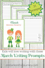 printable march writing prompts for elementary students