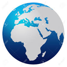 Earth Globe Map World by World Map Blue Globe Europe And Africa Stock Photo Picture And