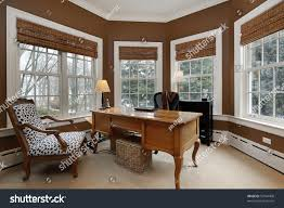 office luxury home surrounded by windows stock photo 59744408