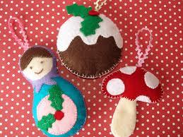 cupcake cutie felt christmas decorations