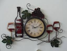 Home Decor Clocks Fashion Art Style Wine Wall Clocks For Wall Decoration Home Decor