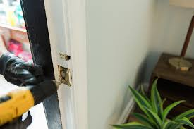 How To Install A Lock On A Cabinet Door How To Install An Interior Slab Door The Home Depot