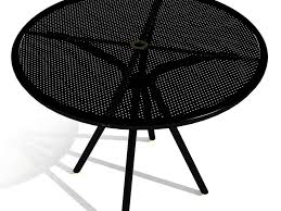 Round Patio Table Cover With Umbrella Hole by Patio 58 Round Patio Table Round Outdoor Table With