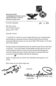 tim collins tim collins letter of appreciation from the u s army