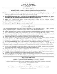 avionics technician resume sample resume sample