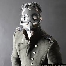 white plague doctor mask steunk industrial plague doctor mask for sale