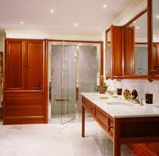 Linen Cabinet Glass Doors by White Bathroom Cabinet With Glass Doors With Traditional Built In