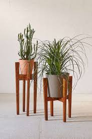 plant stand modern wood plant stand unique and different columns