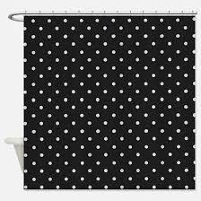 Black Polka Dot Curtains Polka Dot Shower Curtains Cafepress