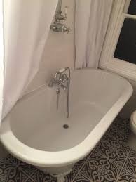 free standing rolltop bath with vintage shower over u2013 finnis and son