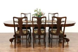 Oak Dining Room Tables Sold Round Quarter Sawn Oak 1900 Antique 45