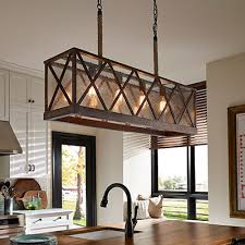 Matching Chandelier And Island Light Kitchen Lighting Fixtures Ideas At The Home Depot