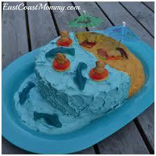 east coast mommy diy pool party cake tutorial