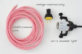 how to wire a pendant light my sparkle diy cloth covered wire pendant light