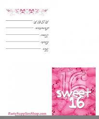printable sweet 16 invitations printable invitations