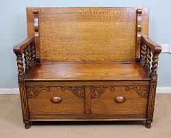 bench oak settle bench antiques atlas oak settle bench storage