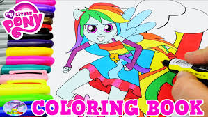 my little pony coloring book mlpeg rainbow dash colors episode