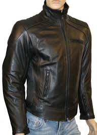 Leather Motorbike Jacket Motorcycle Cowhide Ce Armour Skintan Men
