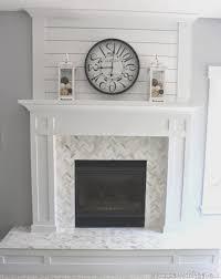 fireplace top paint tile fireplace room design decor unique on