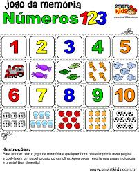 Favorito Atividade Matemática Memória de 1 a 10 - Atividades - Smartkids #QD07