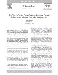 the theory practice gap in cognitive behavioral therapy