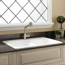 Pascoe DoubleBowl Cast Iron Dropin Kitchen Sink Kitchen - Cast iron kitchen sinks