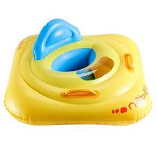 bouée siège bébé jaune avec hublot avec poignées nabaiji